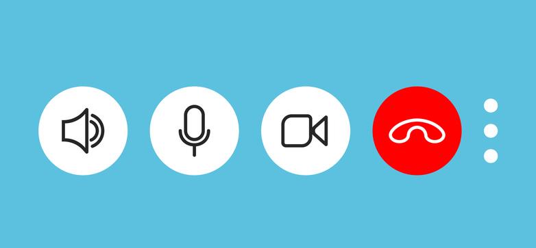 Video call screen buttons