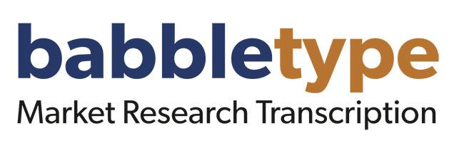 Babbletype Market Research Transcription logo