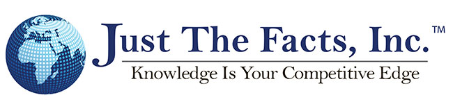 Just the Facts, Inc. Knowledge Is Your Competitive Edge Logo