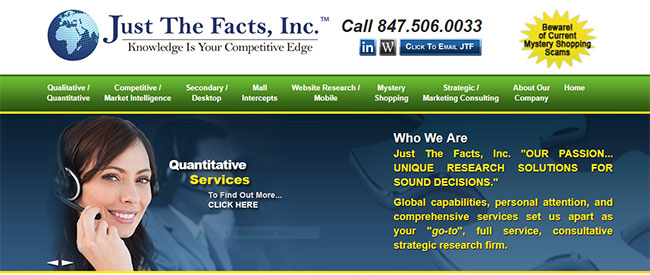 Just the Facts Our passion unique research solutions for sound decisions